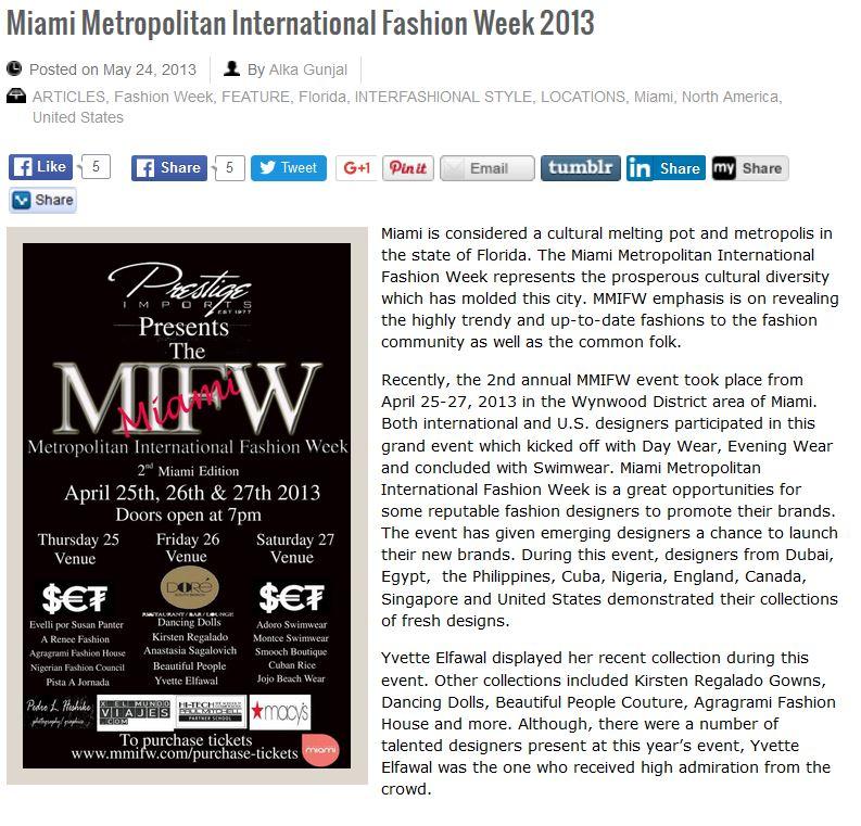 Dialect Magazine May 2013 MIFW – Agragrami