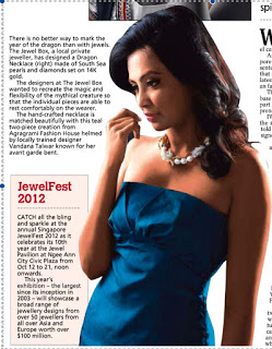 Vandana Talwar showcased one of her collection @singapore jewel festival